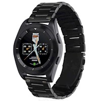 Stainless Steel Smart Watch w/ HR Monitor in Black