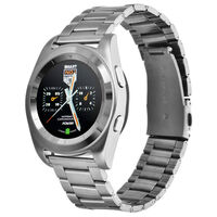 Stainless Steel Smart Watch w/ HR Monitor in Silver