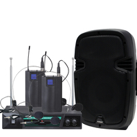 Wireless PA Speaker with 2x Headset Microphones