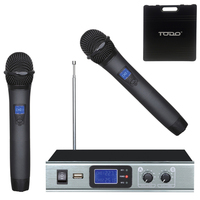 2pc Wireless Microphones w/ Dual Channel Receiver
