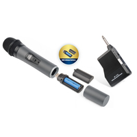 Wireless UHF Microphone with Rechargeable Battery
