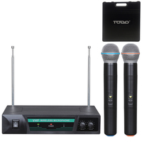 2pc Handheld Microphones with Wireless Receiver 50m