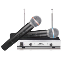 2pc Handheld Microphones with Wireless Receiver 30m