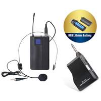 Wireless Headset Microphone w/ Rechargeable Battery