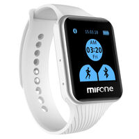 Bluetooth Smart Watch w/ Pedometer & Speaker White