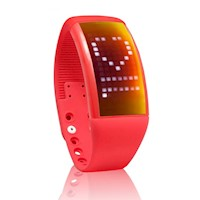 Smart Watch w/ Pedometer & Calories Counter in Red