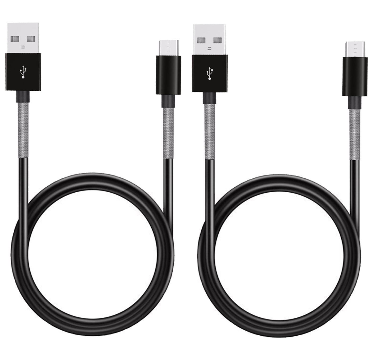 2pc 1M USB DATA CHARGE CABLE MICRO USB CONNECTOR for SAMSUNG HTC METAL  PROTECTED 2x