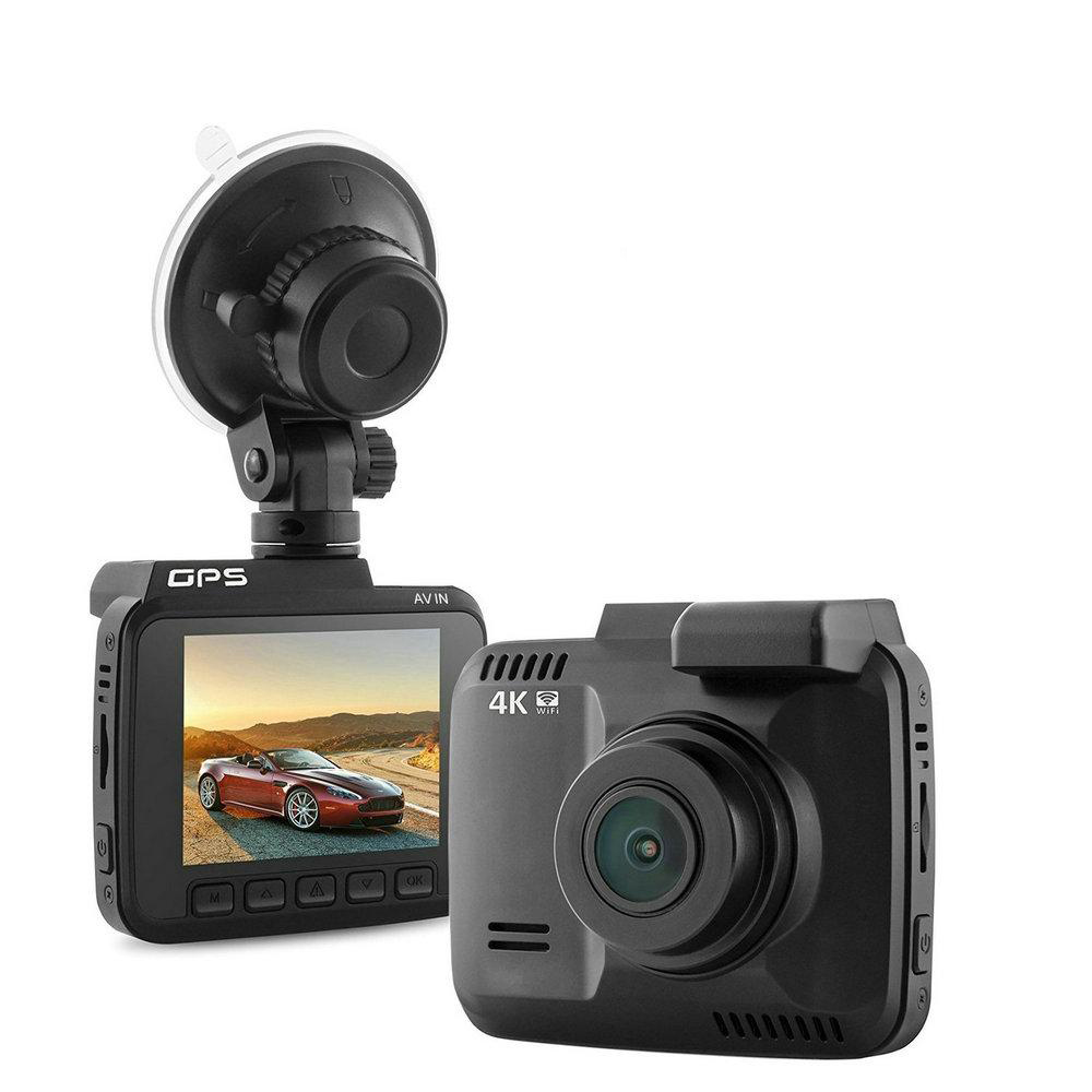 4K FHD IN CAR DVR CRASH CAM RECORDER GPS WIFI APP ANDROID iOS 2 4