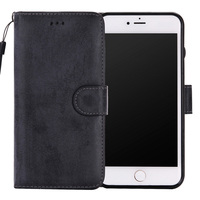 save off aa088 d959f MAGNETIC PU LEATHER COVER CASE 3 CARD HOLDER WALLET iPHONE 5 6 7 PLUS BLACK