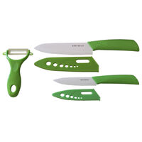 3PCS Ceramic Knife with Peeler Set