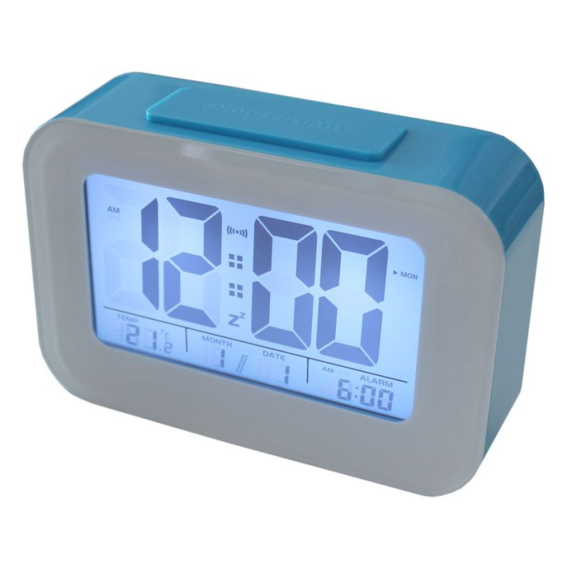 Smart Light Lcd Alarm Clock With Backlit Display Buy