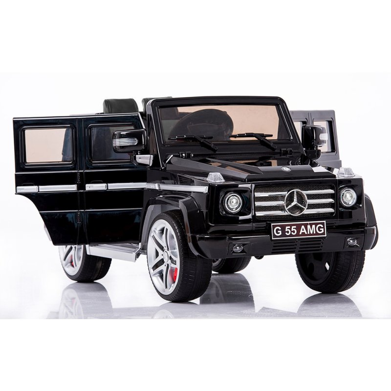 with a full remote control operation this genuine licensed mercedes benz g55 can move around on almost all surface and provides hours of fun