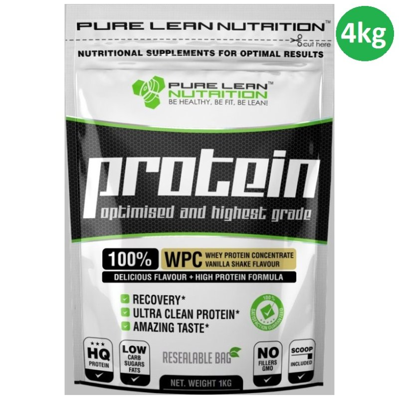 09d39925 4kg Whey Protein Powder Concentrate Vanilla Shake | Buy Protein ...