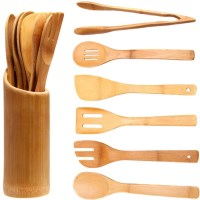 Creative Cook 7 Piece Bamboo Utensil Set