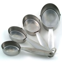 Creative Cook 4 Piece S. Steel Measuring Cups Set
