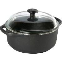 Skeppshult Cast Iron 4.0L Casserole with Glass Lid