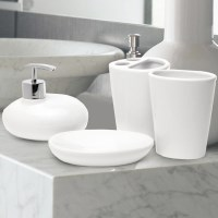 Creative Home 4pc Bathroom Set White
