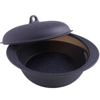 Mastrad Rice & Cereal Cooker, Silicone, Black