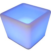 LED Illuminated 16 Colour Square Wine Ice Bucket