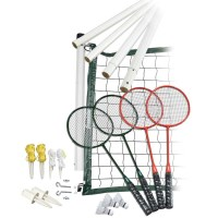 Franklin Classic Badminton Set w 4 Racquets & Case