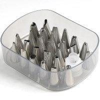 Mastrad Pastry Cake Piping Bag Nozzle Tips Set 26pc