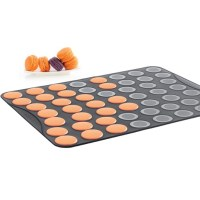 Mastrad Small Macaron Baking Tray in Black Silicone