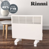 Rinnai Electric Convection Panel Heaters in 2 Sizes
