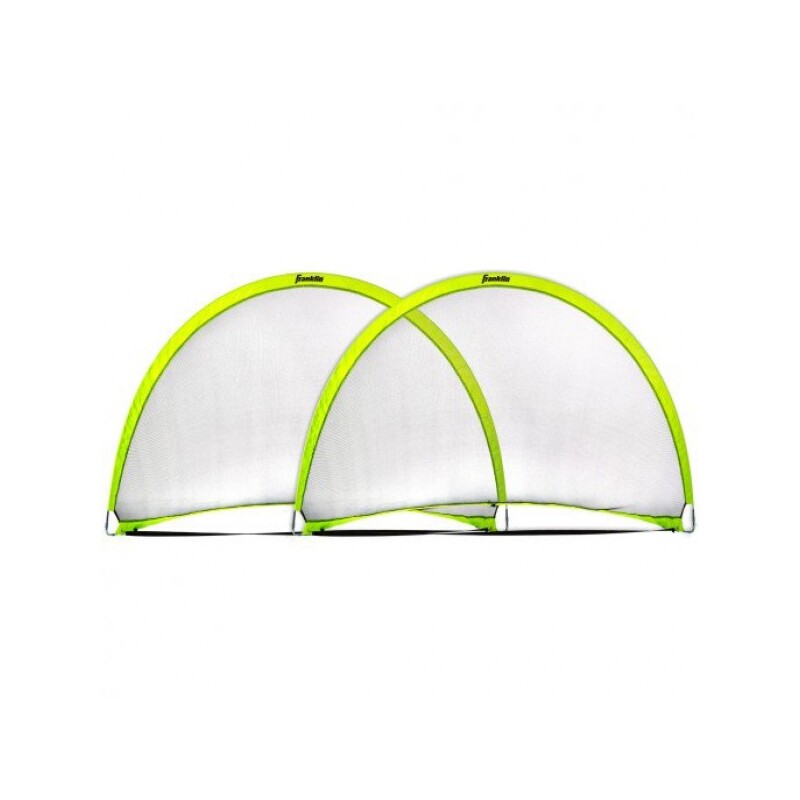 franklin 6 x 4 dome shaped pop up fold flat soccer goals pair