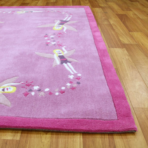 Gorgeous Girls Fairy Themed Rug In Pink 220x150 Buy 220