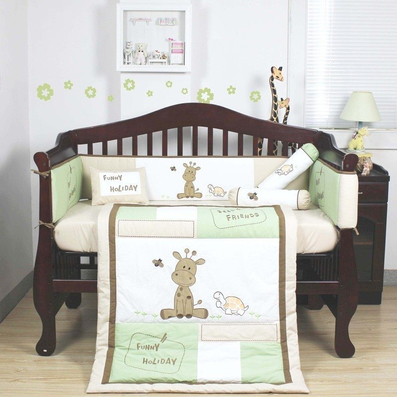 5pc Giraffe Print Baby Cot Crib Bedding Quilt Set Buy