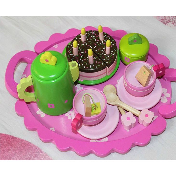 16pc Kids Pretend Play Birthday Cake Tea Party Set
