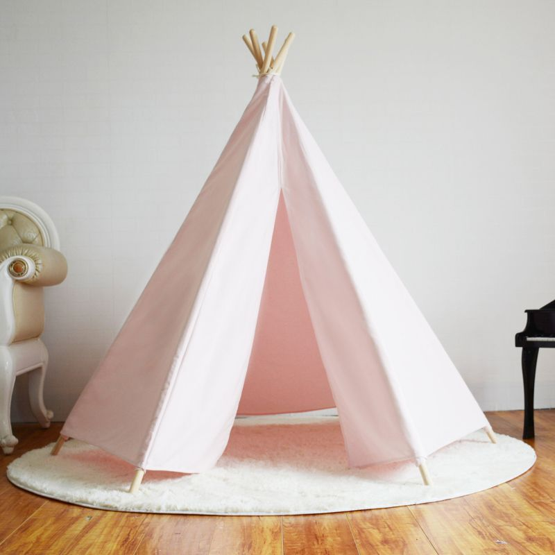 Kids Honeycomb Cotton Canvas Teepee Tent In Pink Buy Teepees