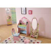 Kids Fairy Themed Dressing Table & Chair w/ Mirror