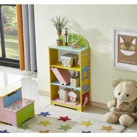 Kids Animal Zoo Themed Storage Bookcase Bookshelf