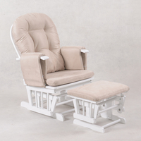 Nursery Breastfeeding Glider Chair w/ Ottoman White
