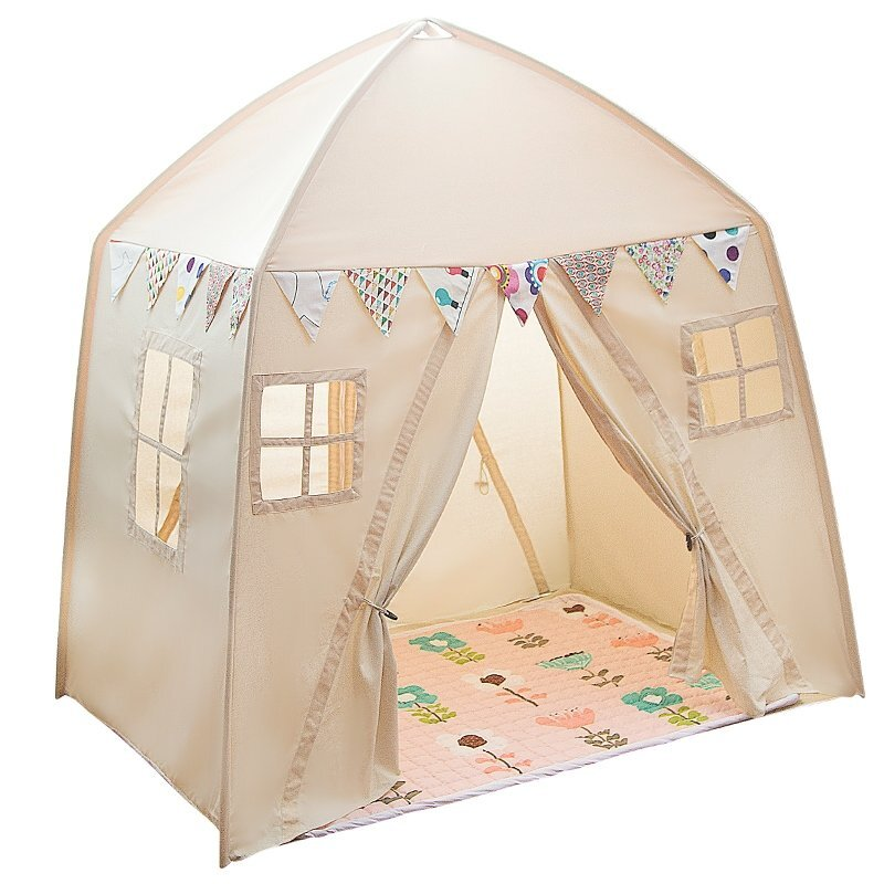 ALL 4 KIDS LARGE COTTON CANVAS KIDS HOUSE SHAPE SQUARE TEEPEE TENT | Buy Teepees - 370773 : boys tent - afamca.org