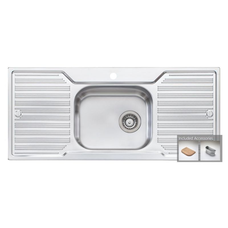 oliveri diaz single bowl double drain sink dz133 buy