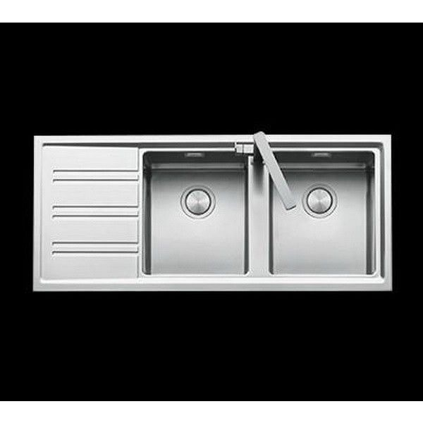 abey barazza double right hand steel sink 1160x500m buy kitchen sinks - Abey Kitchen Sinks
