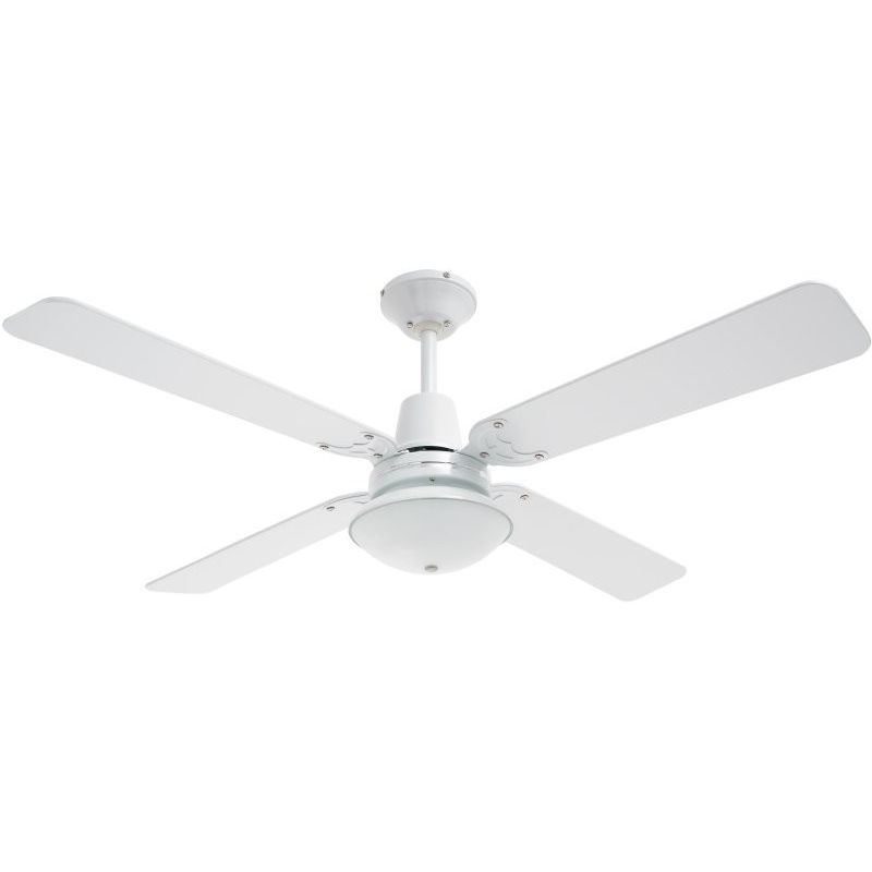 Heller ceiling fan with oyster light in white buy ceiling fans h m s remaining mozeypictures Gallery