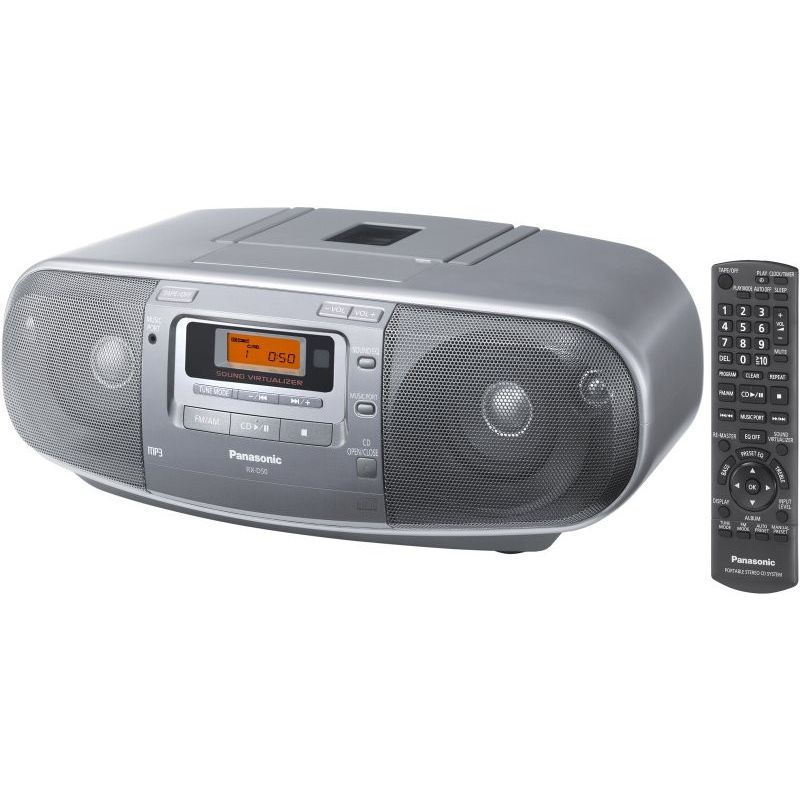 panasonic cd tape player am fm radio w aux input buy radios. Black Bedroom Furniture Sets. Home Design Ideas