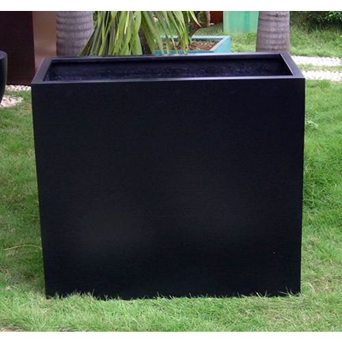 Fibreglass Divide Planter Box In Black 90x76cm