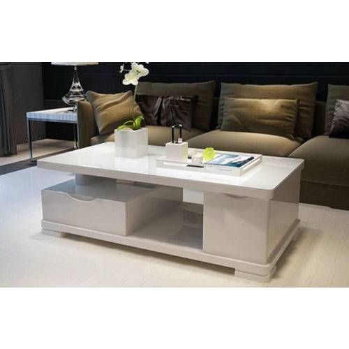 Modern multi level gloss finish coffee table white buy for Buy modern coffee table