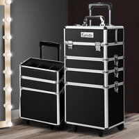 4-in-1 Black Makeup Artist Organiser Case Trolley
