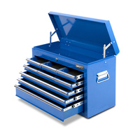 Tool Box with 9 Lockable Drawers and Roller in Blue
