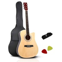 Acoustic 6 Steel String 41in Guitar w Strap & Bag