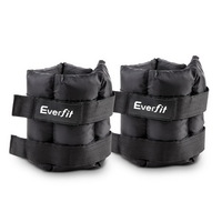 2x 5kg Wrist Ankle Weights w/ Adjustable Pair Strap