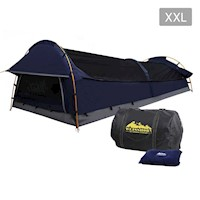 Deluxe King Single Swag Camping Tent Navy