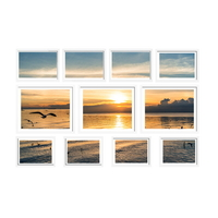 11 -Piece Photo Frames Set Wall White
