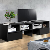 Adjustable Entertainment Unit w/ Drawer Black 175cm