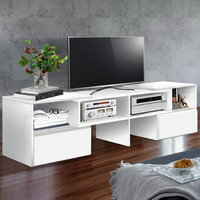 Adjustable Entertainment Unit w/ Drawer White 175cm